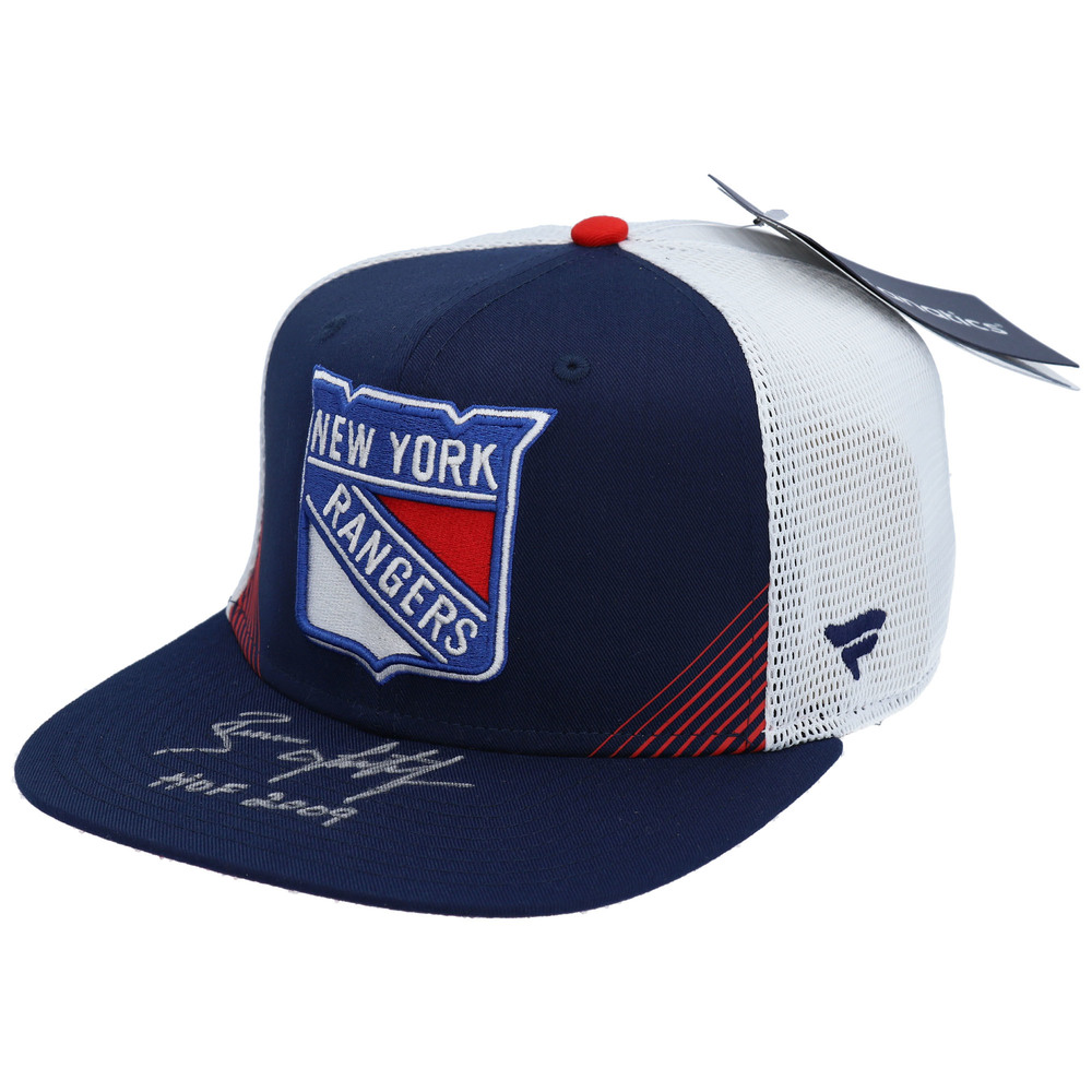 Brian Leetch New York Rangers Autographed Blue Snapback Cap with