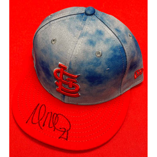 Photo of Andrew Miller Autographed Team-Issued Father's Day Cap (Size 7 1/4)