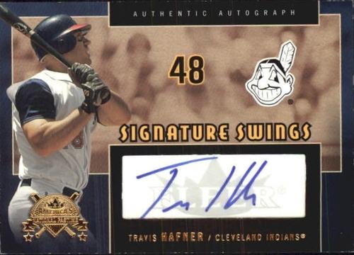Photo of 2005 National Pastime Signature Swings Gold #TH Travis Hafner/199