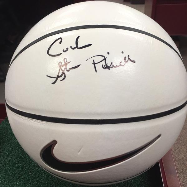 Photo of Coach Steve Pikiell Autographed Basketball