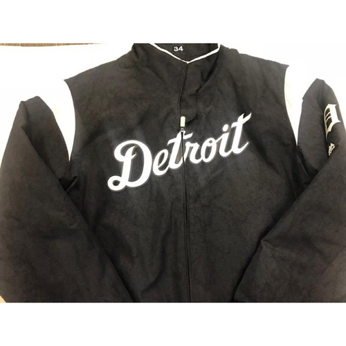 Photo of 2017 Team-Issued Detroit Tiger #34 Home Bench Jacket
