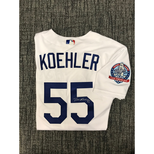 Photo of Kirk Gibson Foundation Auction: Tom Koehler 2018 Team Issued Autographed Los Angeles Dodger Jersey