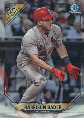 Photo of 2018 Bowman Chrome Rookie of the Year Favorites Refractors #ROYFHB Harrison Bader