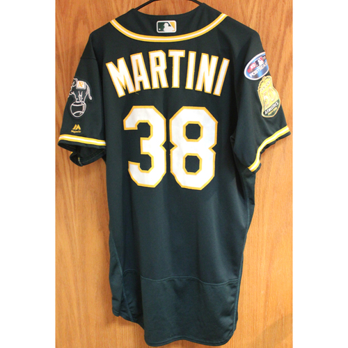 Photo of Game-Used Jersey: Nick Martini AL Wild Card Game 10/3/18