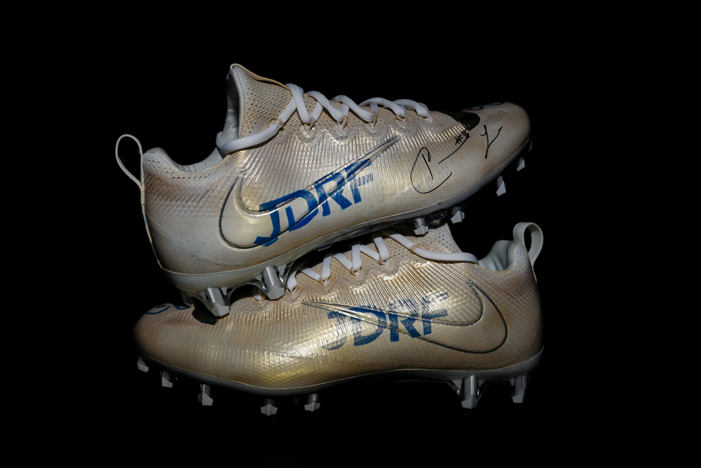 My Cause My Cleats - Patriots Keion Crossen Signed and Game Worn Custom Cleats