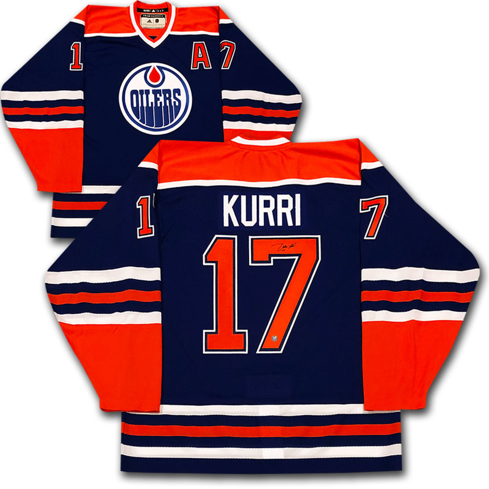 Jari Kurri Autographed Edmonton Oilers adidas Team Classics Authentic Vintage Jersey