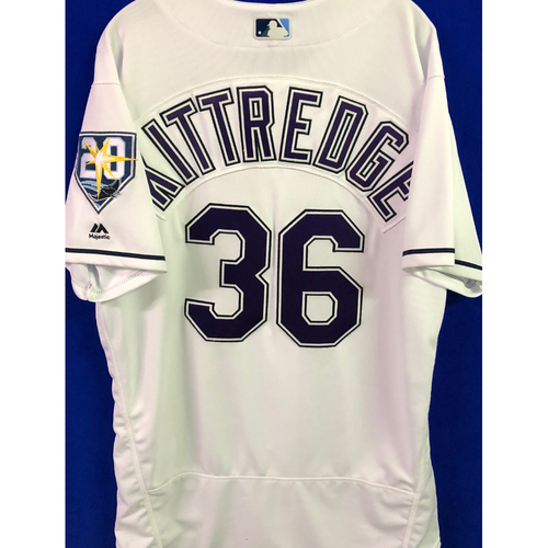 Photo of 20th Anniversary Game Used Devil Rays Jersey: Andrew Kittredge - March 31 v BOS and September 8 v BAL