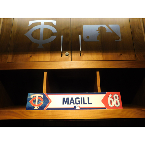 Photo of 2018 Matt Magill Game-Used Locker Name Plate