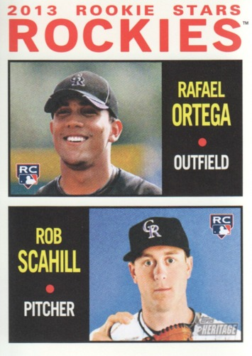 Photo of 2013 Topps Heritage #378 Rafael Ortega RC/Rob Scahill RC