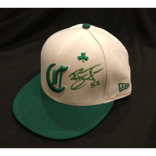 Photo of Blake Trahan -- Autographed & Game-Used Cap -- 2019 St. Patrick's Day