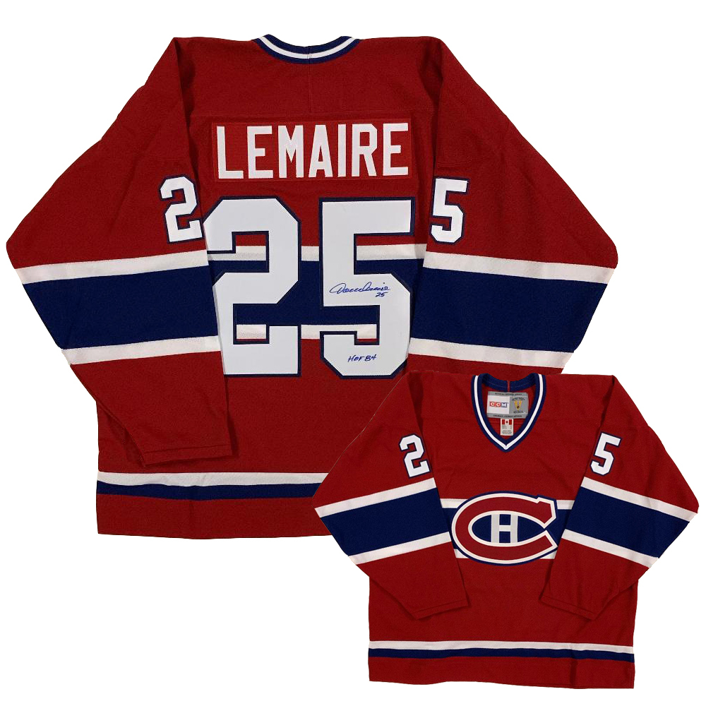JACQUES LEMAIRE Signed Montreal Canadiens Red CCM Jersey