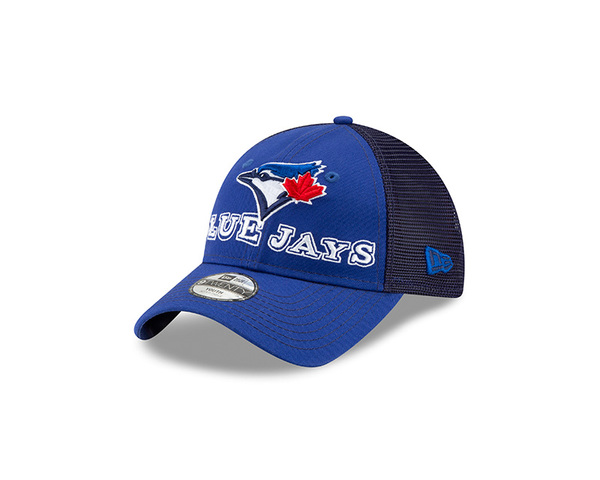 Toronto Blue Jays Child Cheerful Pick Royal Mesh Trucker Cap by New Era