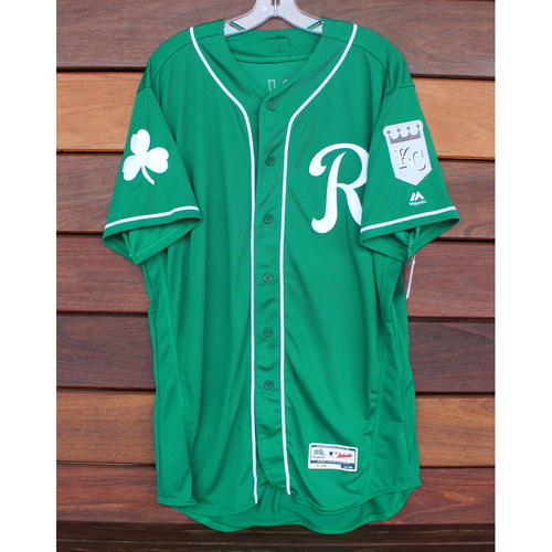 Team-Issued St. Patrick's Day Jersey: Scott Barlow (Size - 46)