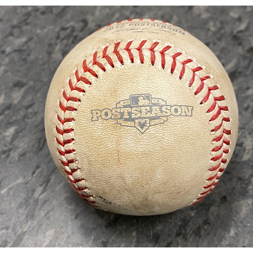 Photo of 2012 NLDS Game 2 Game Used Baseball used on 10/7 vs. Cincinnati Reds - T-8: Guillermo Mota to Brandon Phillips - Foul Ball