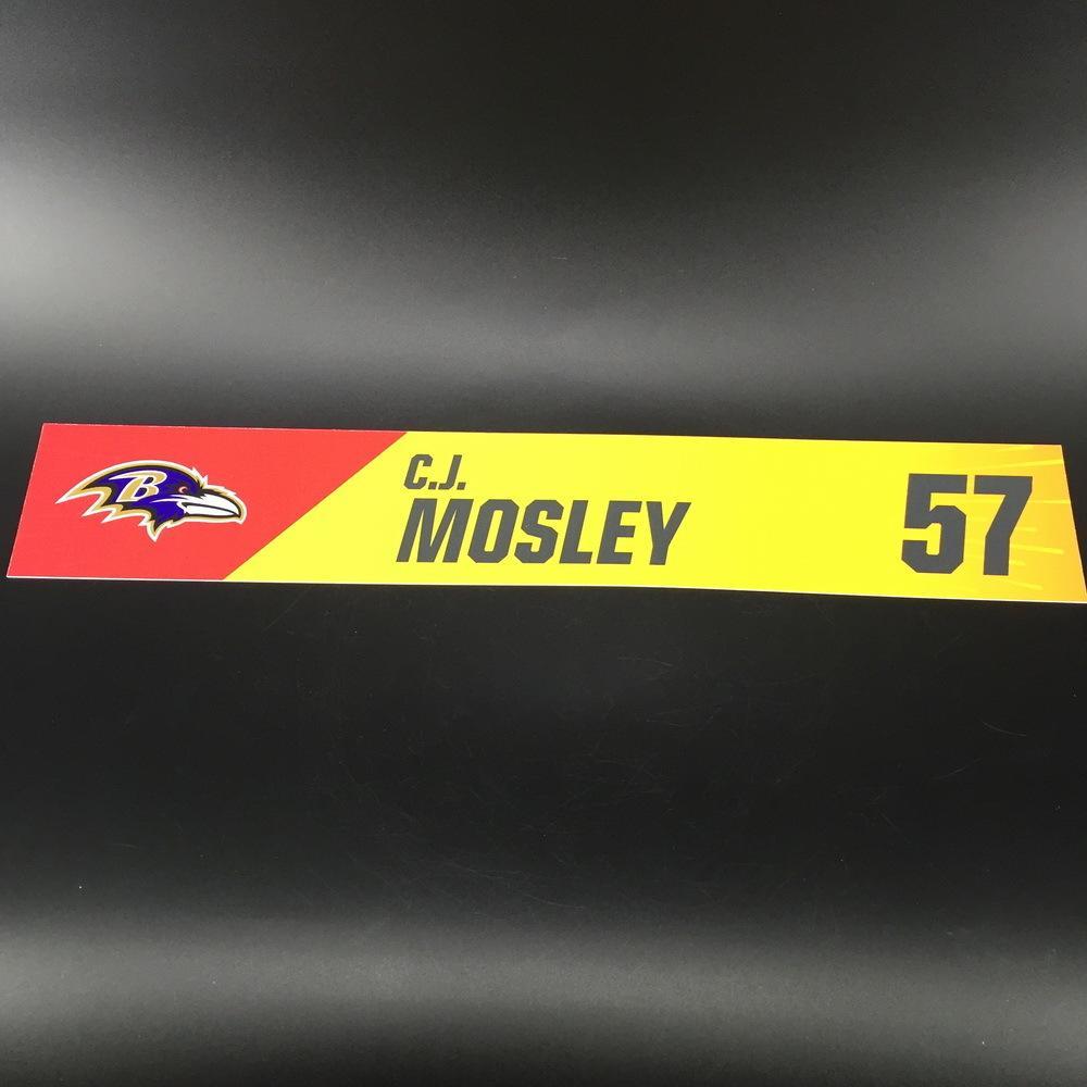 NFL - Ravens C.J. Mosley Pro Bowl 2019 Locker Room Plate