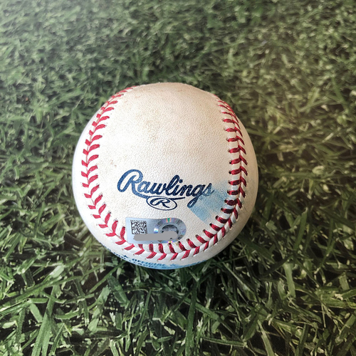 Photo of Game Used Baseball 06/13/18 CHC Montgomery - Yelich: Foul - Bot 3