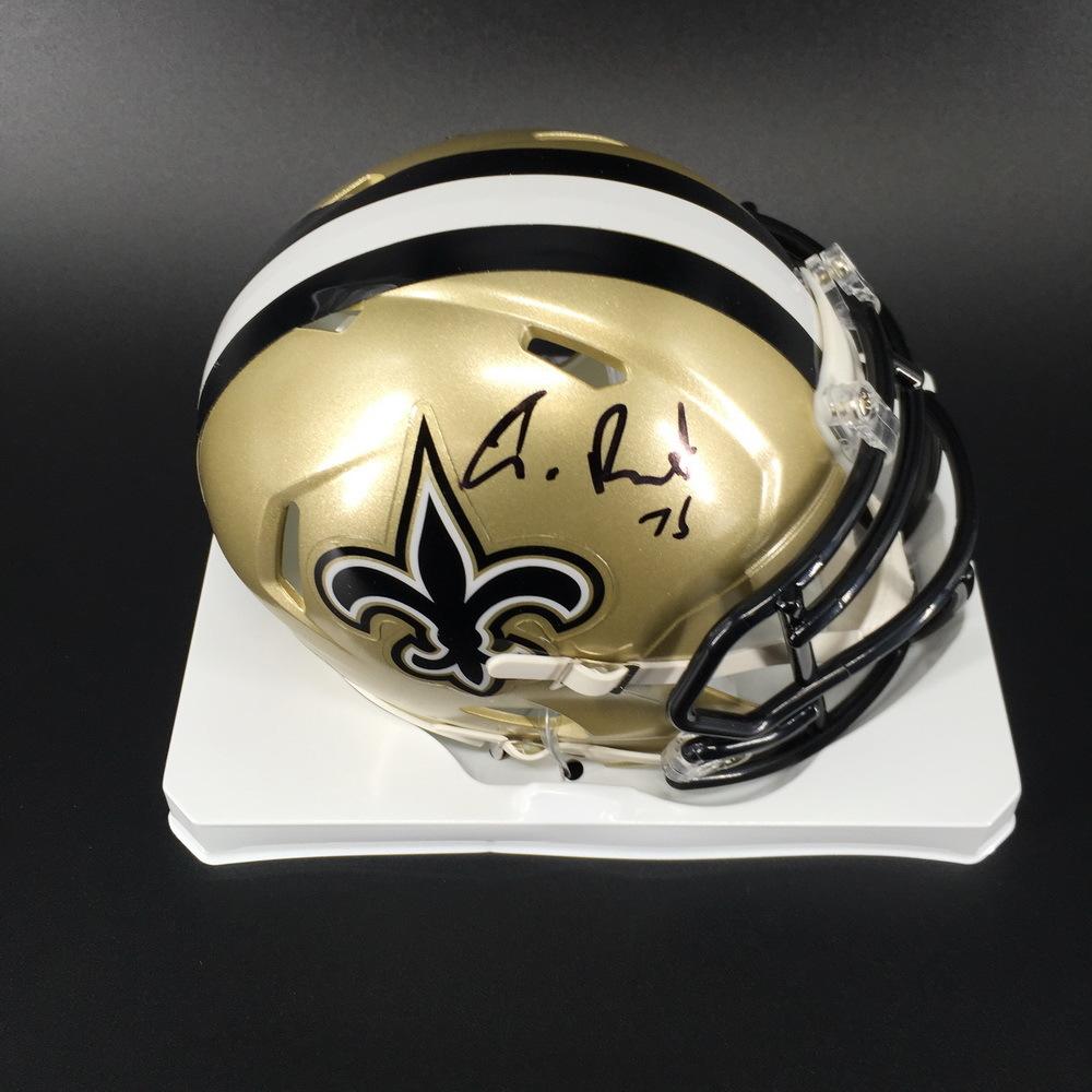 NFL - Saints Andrus Peat Signed Mini Helmet