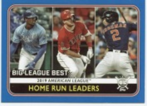 Photo of 2020 Topps Big League Blue #237 Alex Bregman/Mike Trout/Jorge Soler LL