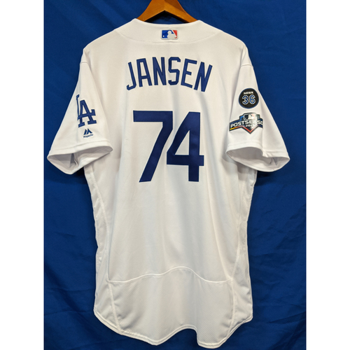 Photo of Kenley Jansen 2019 Postseason Team Issued Home Jersey