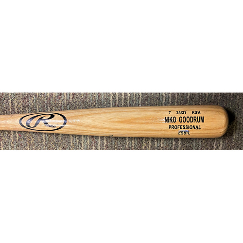 Photo of Niko Goodrum Detroit Tigers Game-Used Cracked Bat (MLB AUTHENTICATED)