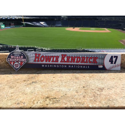 Photo of Howie Kendrick Team-Issued 2020 Locker Tag