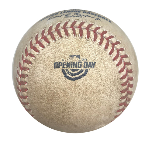 Photo of 12 Days of Auctions: Day 11 -- Game-Used Baseball -- Kyle Hendricks to Orlando Arcia, Single, 70.5 MPH Curveball, Top 6 -- Opening Day 2020 -- Brewers vs. Cubs -- 7/24/20
