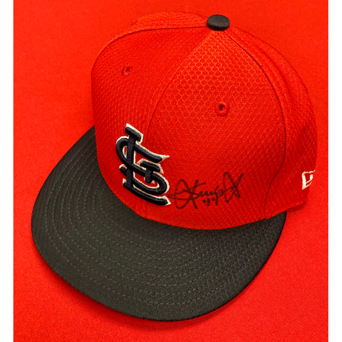 Photo of Junior Fernandez Autographed Team-Issued Batting Practice Cap (Size 7 1/8)
