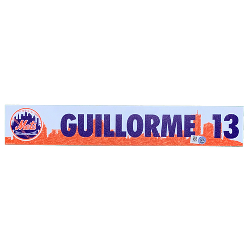 Photo of Luis Guillorme #13 - Team Issued Locker Nameplate - 2021 Spring Training