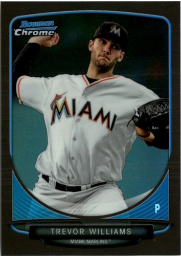 Photo of 2013 Bowman Chrome Draft Draft Picks Black Refractors #BDPP54 Trevor Williams