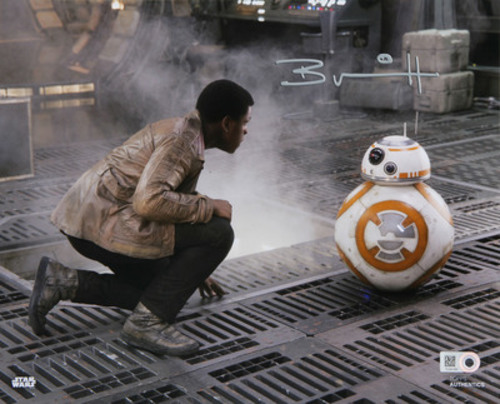 Brian Herring as BB-8 16x20 Autographed in Silver Ink Photo