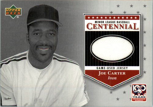 Photo of 2001 Upper Deck Minors Centennial Game Jersey #JJC Joe Carter
