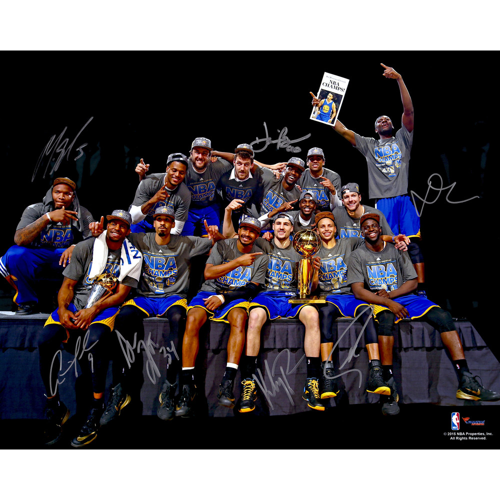 Golden State Warriors 2015 NBA Champions Autographed 16