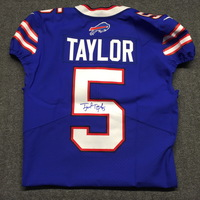 BILLS - TYROD TAYLOR SIGNED AUTHENTIC BILLS JERSEY - SIZE 40