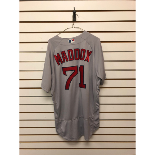 Photo of Austin Maddox Game-Used ALDS Game 1 October 5, 2017 Road Jersey