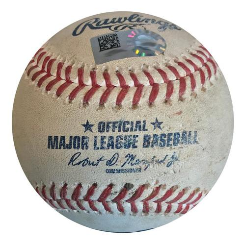 Photo of Game-Used Baseball from Pirates vs. Phillies on 7/8/18 - Rhys Hoskins Hit by Pitch