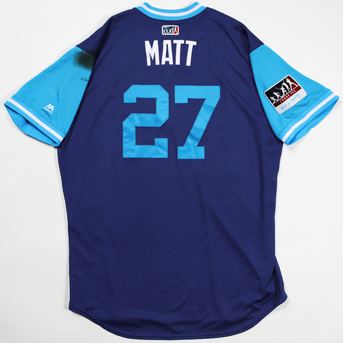 "Photo of Matt ""Matt"" Kemp Los Angeles Dodgers Game-Used 2018 Players' Weekend Jersey"