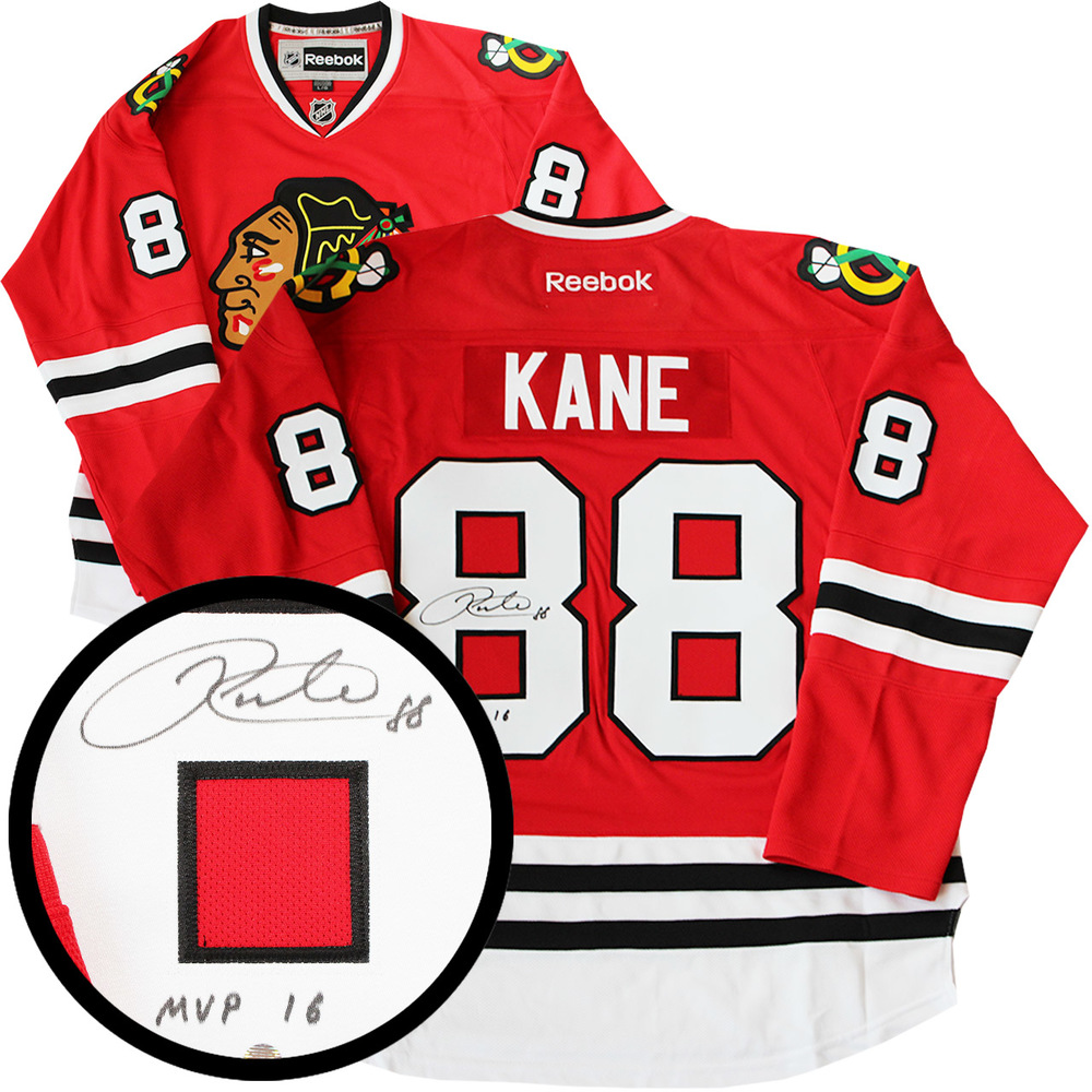 Patrick Kane Signed Jersey Blackhawks Red Replica Reebok Inscr