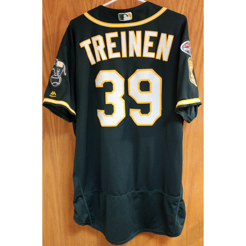 Photo of Game-Used Jersey: Blake Treinen AL Wild Card Game 10/3/18