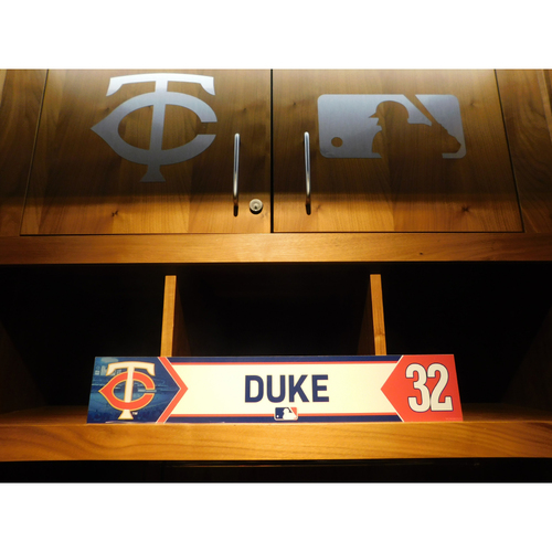 Photo of 2018 Zach Duke Game-Used Locker Name Plate