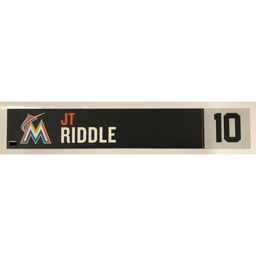 Photo of Game Used Locker Tag: JT Riddle