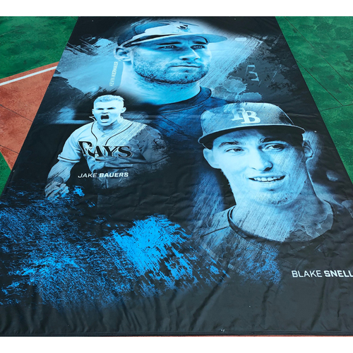 Photo of Tampa Bay Rays Banner: Kevin Kiermaier, Jake Bauers and Blake Snell - Local Pick-Up Only