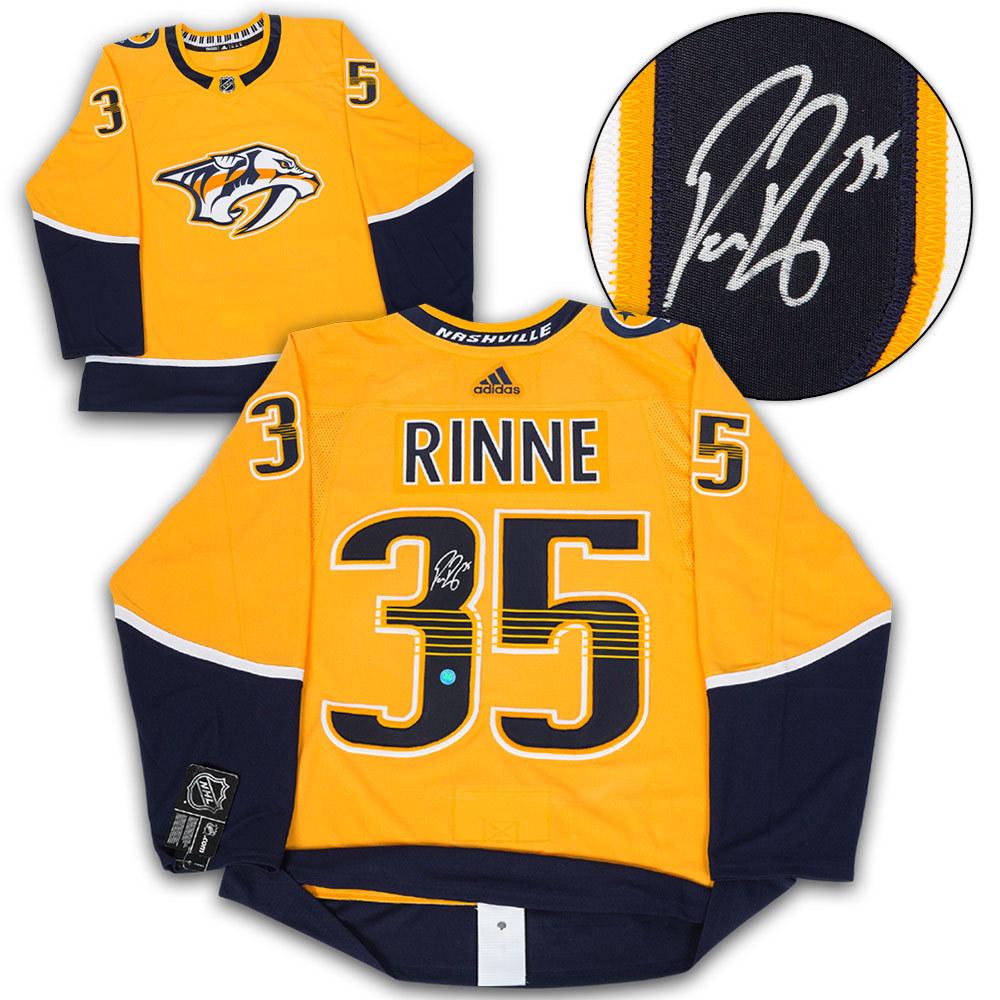 Pekka Rinne Nashville Predators Autographed Adidas Authentic Hockey Jersey