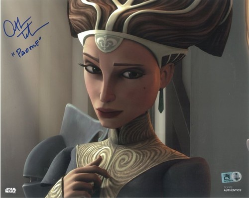 PREORDER Catherine Taber As Padme Amidala 8x10 Autographed in Blue Ink Photo