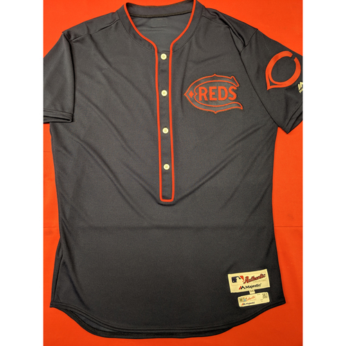 Photo of Cristian Perez -- Game-Used Jersey/Pants -- 1911 Throwback worn 5/5/19 -- Jersey Size - 44; Pants Size - 34-39-19