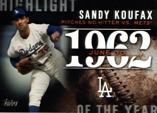 Photo of 2015 Topps Highlight of the Year #H46 Sandy Koufax