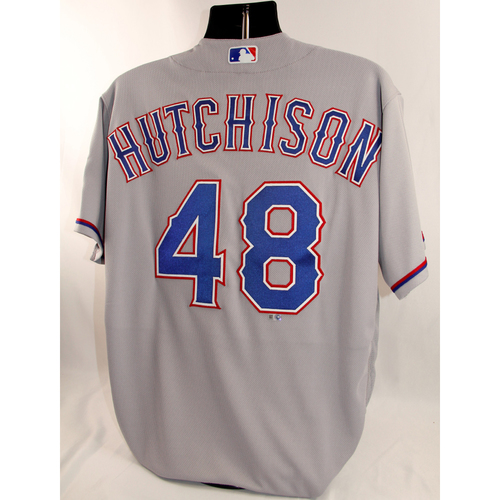 Photo of Game-Used Grey Jersey - Drew Hutchinson - 8/20/18
