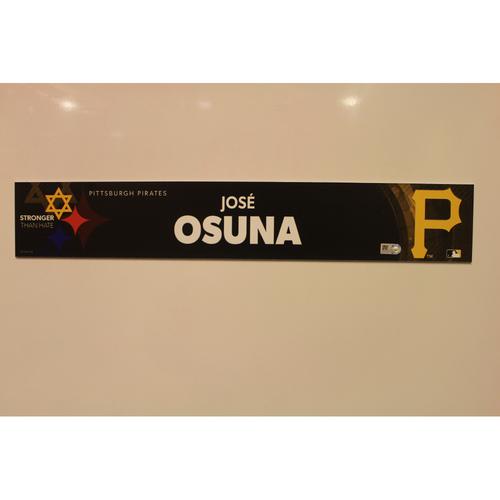 2019 Game Used Locker Nameplate - Jose Osuna