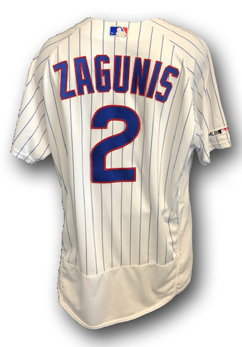 Photo of Mark Zagunis Game-Used Jersey -- Wrigley Field Home Opener 2019 -- Pirates vs. Cubs -- 4/8/19 -- Size 48