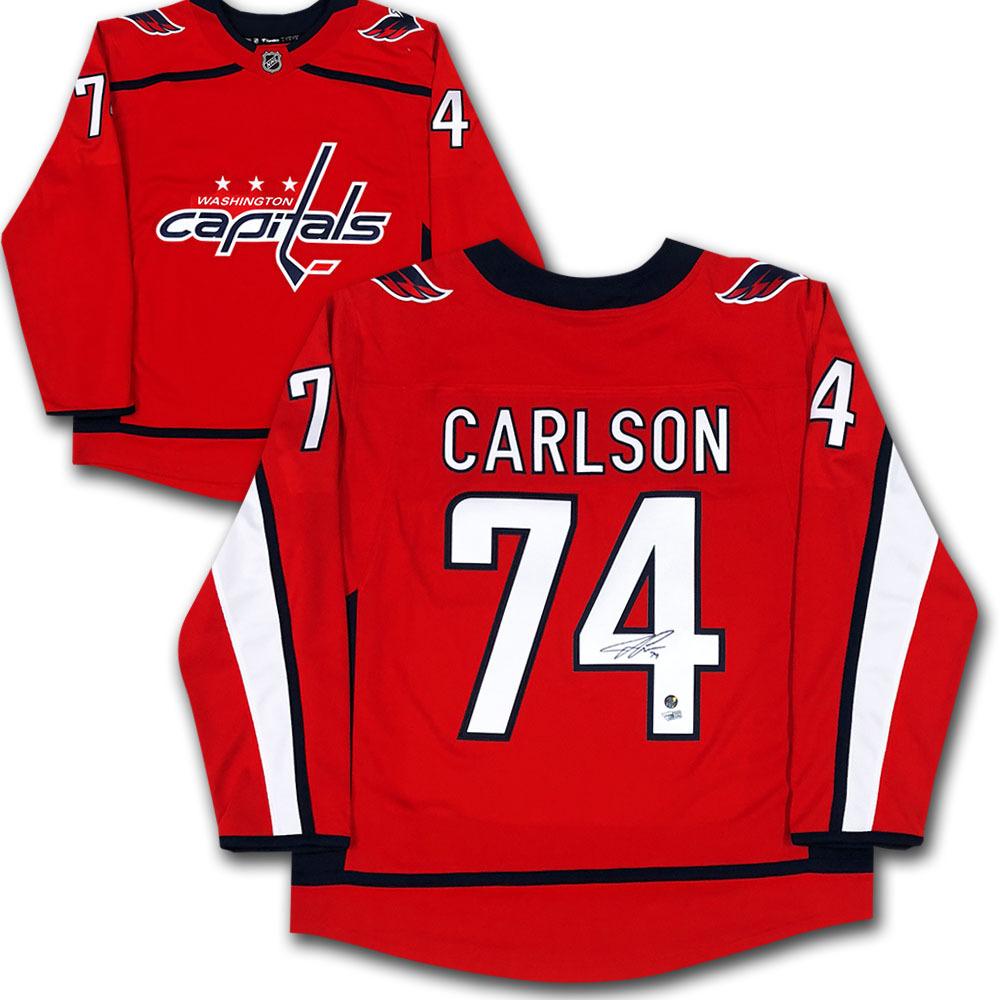John Carlson Autographed Washington Capitals Fanatics Jersey