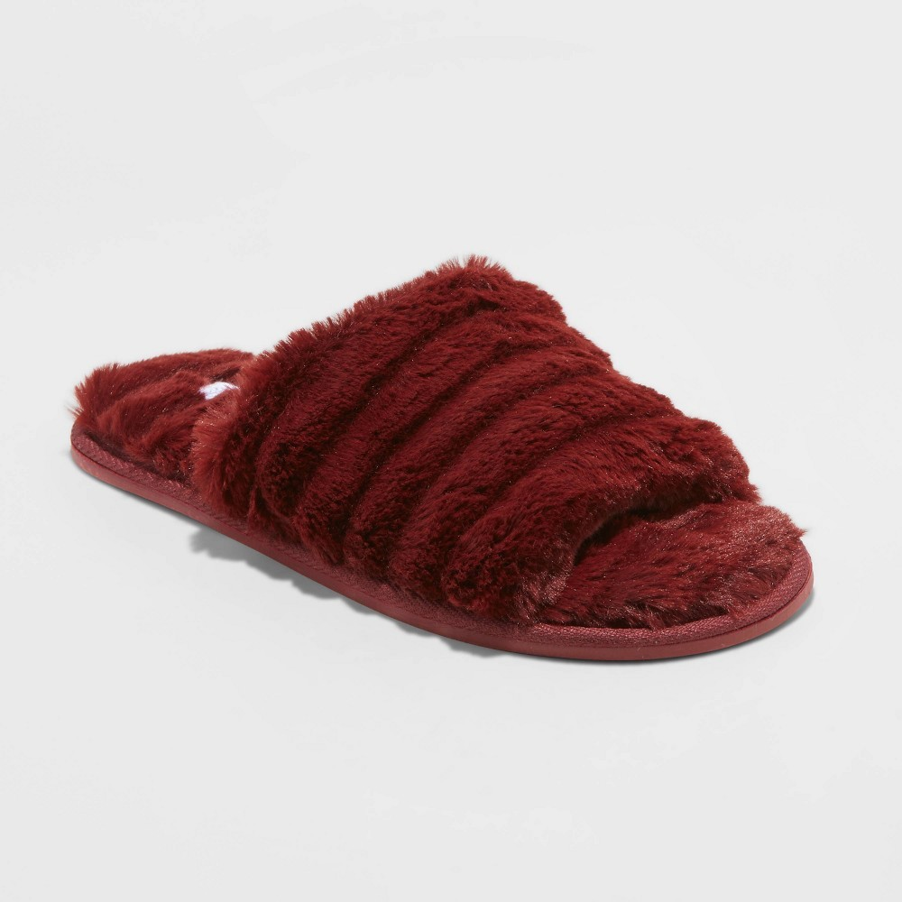 Photo of Stars Above Womens Slide Slippers Faux Fur